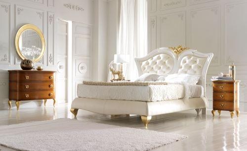 Спальня Frast Marlene белая с золотом