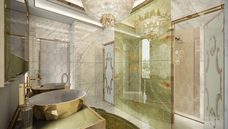 Ванная комната интерьер арт деко
