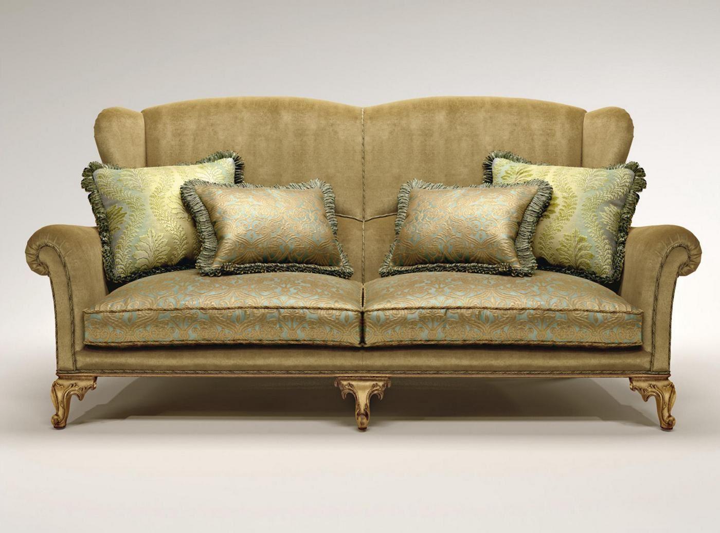Прямой диван с высокой спинкой