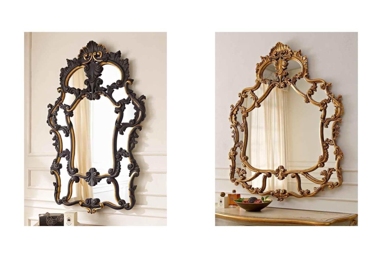 Зеркала в массивных рамах