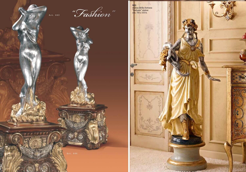 Скульптуры в классическом интерьере
