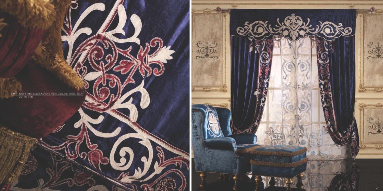 Богатые шторы в классическом стиле