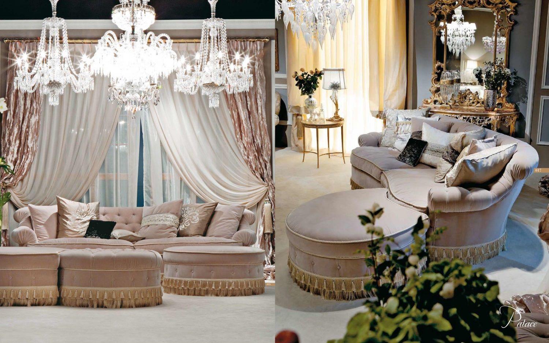 Стильный дизайн гостиной неоклассика