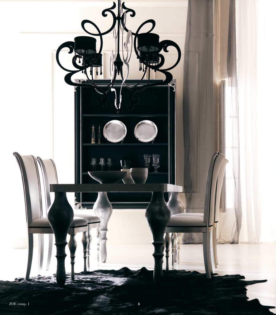 Стол со стульями в стиле арт-деко Cortezari - Zoe