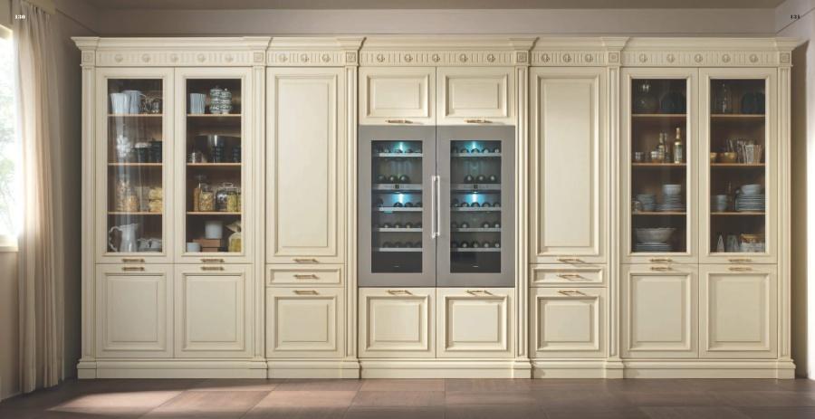 Кухонная стенка молочная модель Kitchens - FM Bottega d Arte