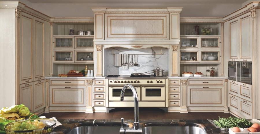 Кухня классика эффект старины модель Kitchens - FM Bottega d Arte