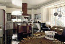 Кухня классика - комибинрованая орех и серый окрас Martini Tentazioni