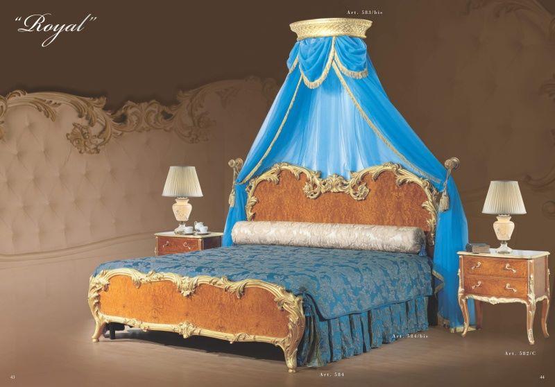 Кровать с голубой короной коллекция Royal  - Mida