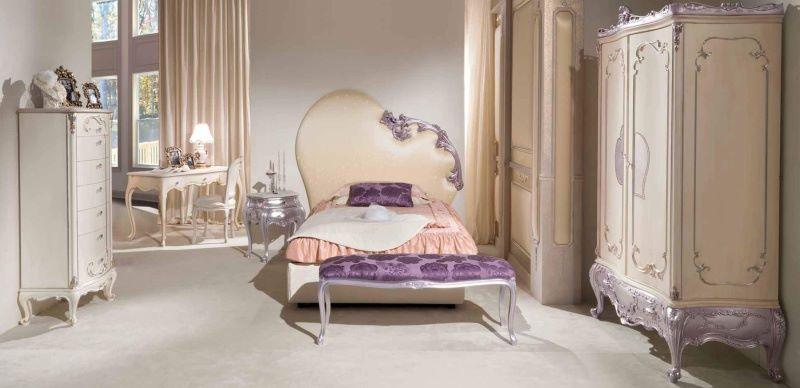 Детская спальня - отделка бежево серая Mida Romantic Emotion