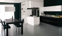 Кухня модерн черная с белым модель - Modart Collection