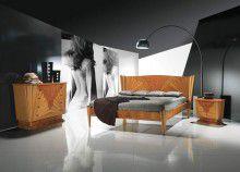 Спальня арт-деко - отделка светлые породы дерева Carpanelli