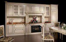 Кухня белая с золотым декором Megaros - Duca deste