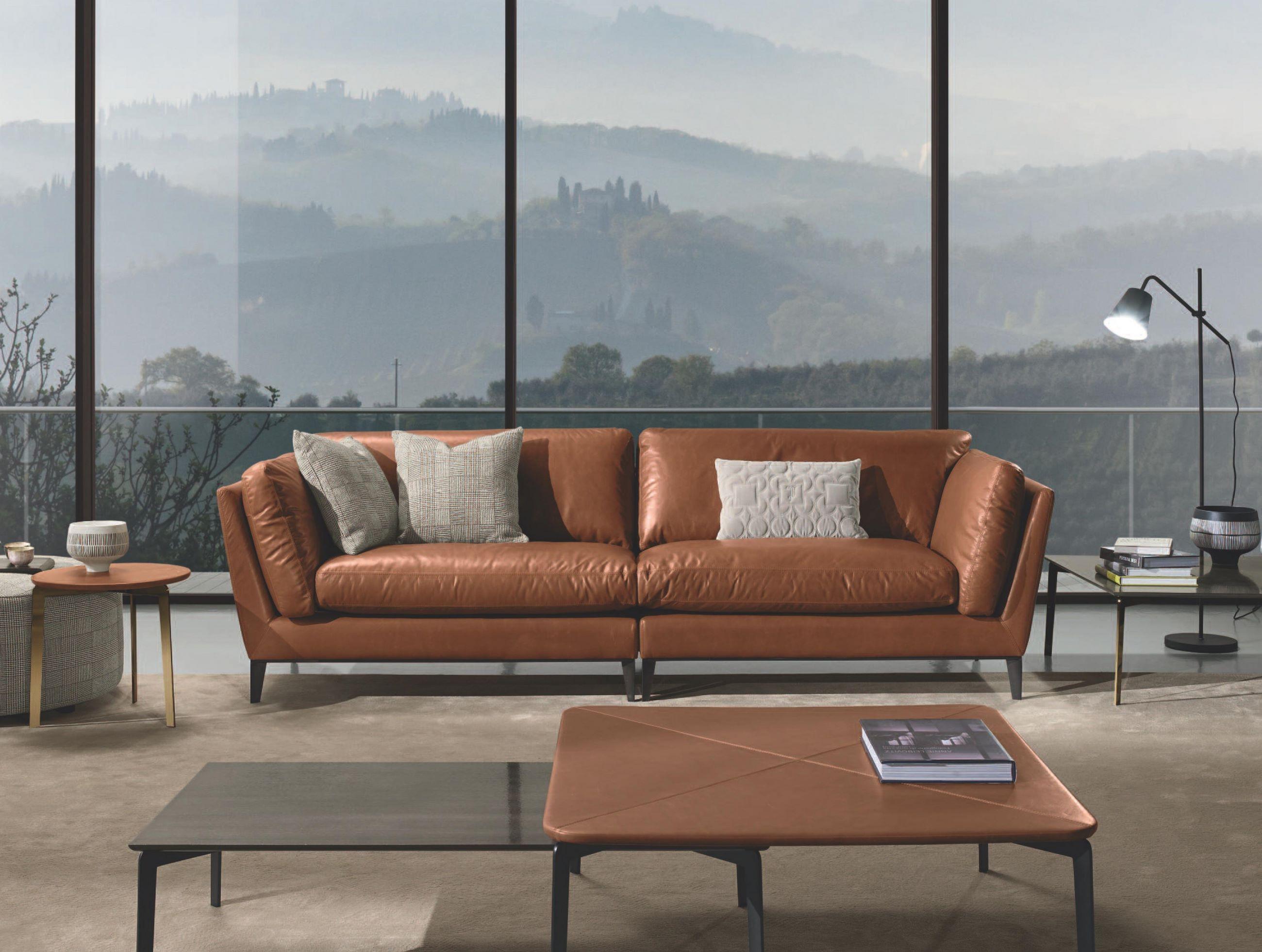 кожаный диван Италия