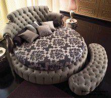 Большая круглая кровать - цвет серый Paolo Lucchetta