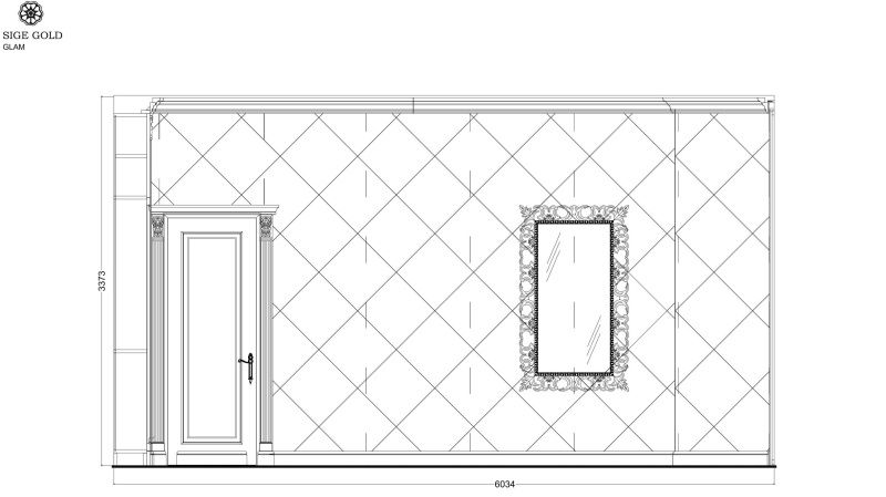 Чертеж проекта ванной комнаты
