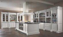 Кухня белая с серебро модель Kitchens - FM Bottega d Arte