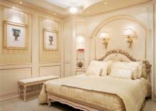 Бежевая кровать с резьбой - модель Notte - Formichi