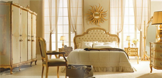 Белая с золотом мебель Andrea Fanfani