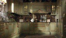 Кухня оливковая с позолотой - модель Kitchen - Jumbo Сollection
