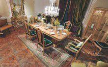 Мебель для столовой стул в изумрудной обивке Medea - Prestige