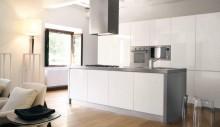 Кухня модерн - белая блестящая - модель - Modart Collection