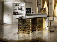 Барная стойка арт-деко - белая с золотом Bordignon Kandinsky