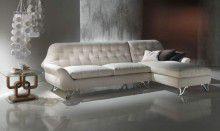 Угловой диван арт-деко - обивка светлая Carpanelli