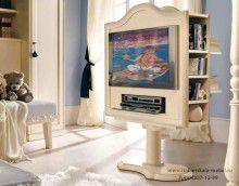 Модуль для ТВ в детскую - слоновая кость PM4