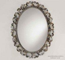 Овальное зеркало - Of Interni White